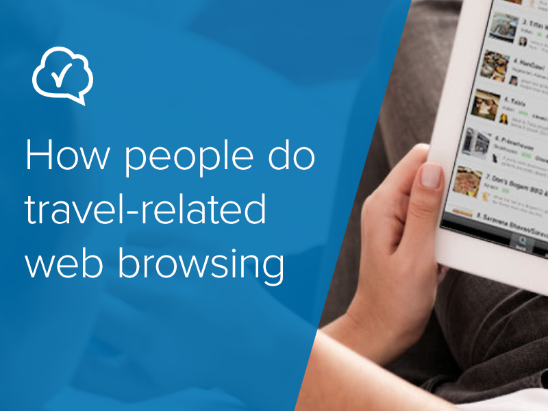 How people do travel-related web browsing