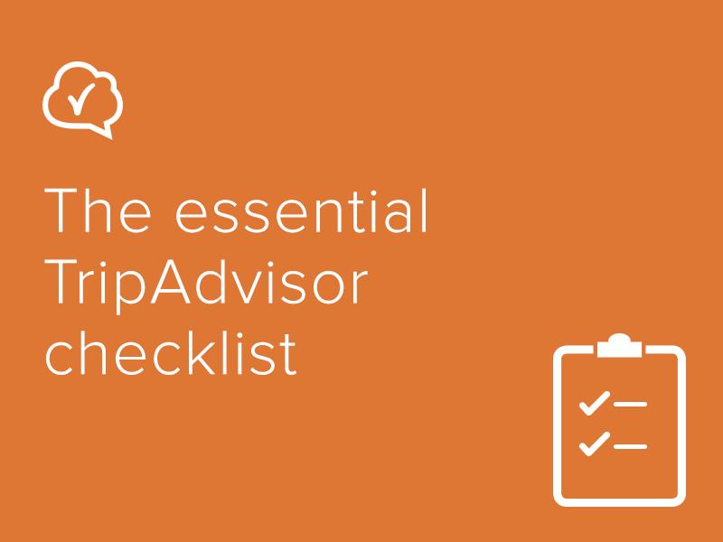The essential TripAdvisor checklist